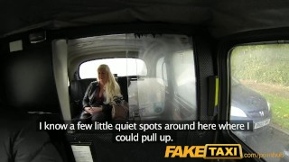 FakeTaxi Adult tv wannabe sucks cock