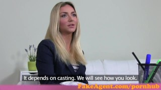 Preview 3 of FakeAgent Stunning blonde fashion student fucks in Casting