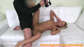 Student blonde in fakeagent stunning casting fashion fucks missionary blowjob