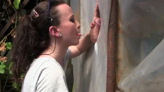 Amateur Young Milf Gloryhole Blowjob&Deepthroat Cumshot by Sylvia Chrystall  mom blowjob gloryhole cumshot handjob brunette facial adultfilmschool bj cfnm amateur hot eurobabe milf queen outdoor