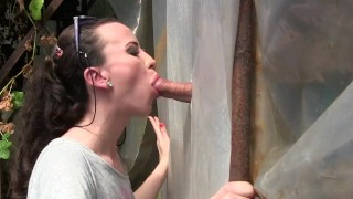 Amateur Young Milf Gloryhole Blowjob&Deepthroat Cumshot by Sylvia Chrystall  bj mom amateur blowjob hot gloryhole cumshot milf handjob brunette facial adultfilmschool cfnm eurobabe queen outdoor