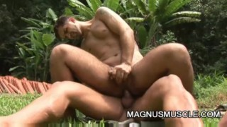 Yuri Bryan and Junior Pavanello: Military Muscle Guys Outdoor Sex Amateur amateurs