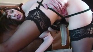 Pegging Bling! Canada's ShandaFay Fucks A Man With Her New Strapon! dildo canadian milf lingerie huge tits toys milf shandafay heels canadian kink big tits femdom strapon cumshot lick cum strap on femdom pegging ass fuck stockings fetish