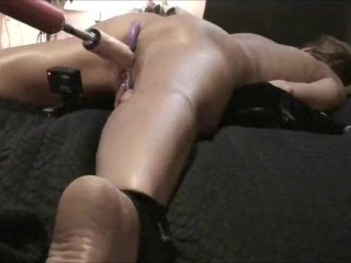 housewife anal toys - WIFE CUMS HARD! Spread Eagle - Fuck Machine - Anal Beads *as requested