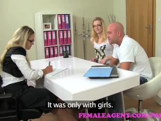 Fat Harry Pussy FemaleAgent. MILF fucks hot girls boyfriend in front of her in casting