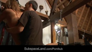 Joanna in restrained ropes spanked and sweet tied and