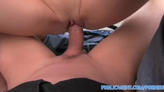 PublicAgent Isabelle gets fucked outside in a public stairwell porno