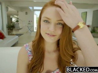 Teen Pusssy Blacked Redhead Teen Enjoys Interracial Sex