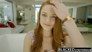 Preview 1 of BLACKED RedHead Teen Enjoys Interracial Sex