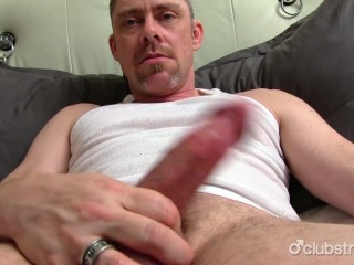 Grote penis jacking off