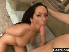 Lovely Brunette With Massive Tits Gets Fucked