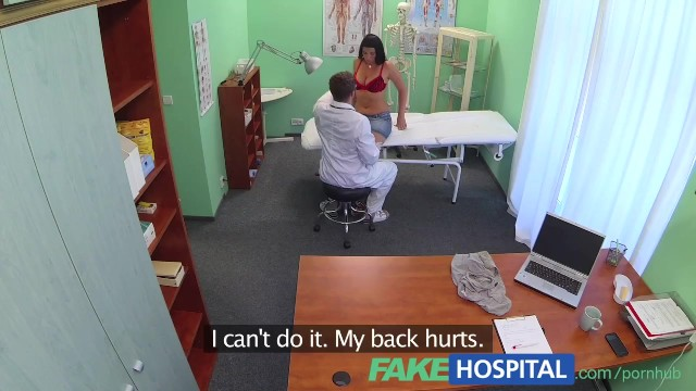 Is the patient nude on the operating table Fakehospital busty sexy milf gets fucked on the examining table after strik