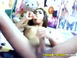Asian Tranny Masturbating Her Dick
