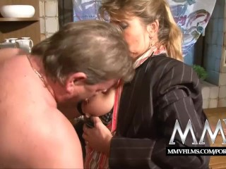 Sexy Milf 50 MMV Films Two mature wifes sharing a cock