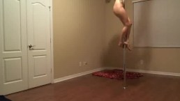 Breaking in my new longer stripper pole :)