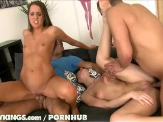 Sexy latino orgy sex