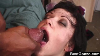 Goth Babe Wants In On His Huge Black Cock Evil blow