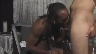 Hot Interracial Cock Sucking And Butt Fucking Made orgasm