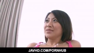 Too cute not to get fucked Hina Aisawa meets a cock Big style