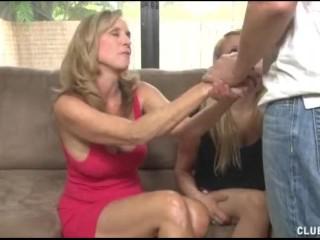 Teen Butt Cleavage Fucking, Cock Jerking Lesson For The Hot Teen Handjob MILF Teen