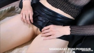 Pegged by Shanda Fay!! The Best Pegging MILF Massage Ever?!  woman fuck man ass big tits pegging pegged babe dildo femdom canadian amateur fetish busty shandafay kink brunette housewife canada