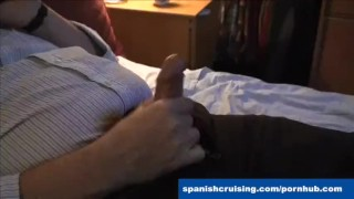 Jerking bear off hung hairy stroking