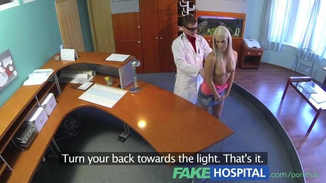 Voyeur explorer - Fakehospital dirty doctor explores every inch of ravishing blondes body