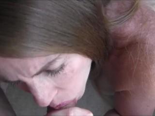 30 Weeks Pregnant POV Blowjob and Facial