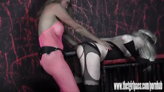 Amateur sissy strapon video Femdom spanks and tortures naughty blonde sissy with huge strapon cock