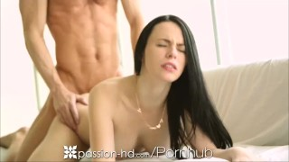 Passion HD Brunette wants cream for her coffee and cunt