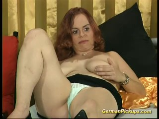 busty German redhead Picked up