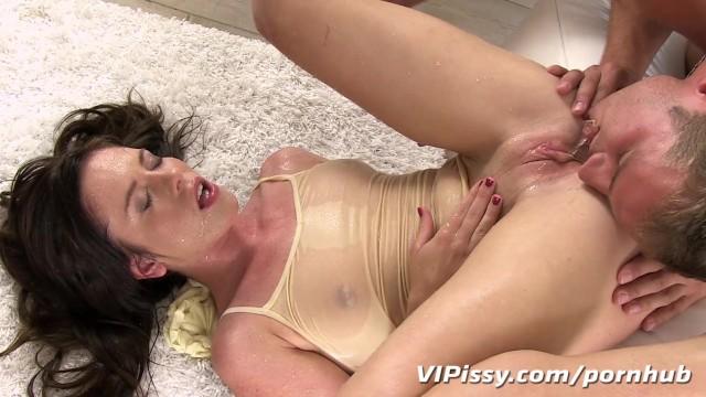 Cute karma cum soaked - Pee soaked panties cling to her wet skin