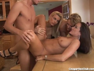 Mature french woman gangbanged