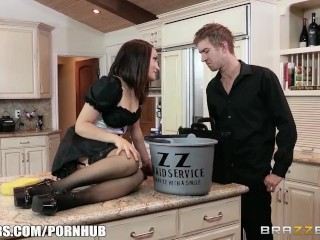 Preview 3 of Squirting maid Gabriella Paltrova cleans up - Brazzers