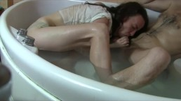 """Hidden Parabolic"" - Art of Blowjob. Bathtub Facefuck by Sylvia Chrystall."