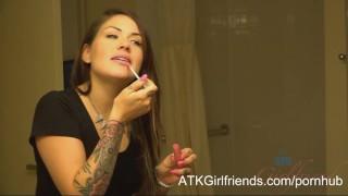 Karmen Karma gets a POV cum facial in Vegas after your date