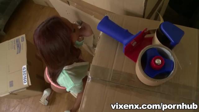 vixenx - Hot Latina Katia finds a cock in a box