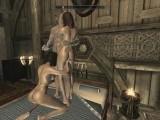 Skyrim: Sex With My Wife & Steward (Threesome)