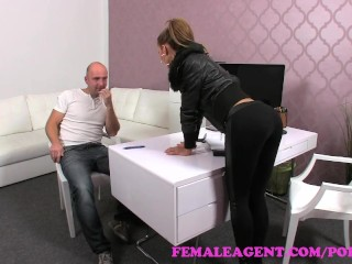 Its Ok Cum In Me FemaleAgent. Teasing agent filled full of cum in sexy casting