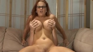 Frisky Redhead Rides Her Stepson's Hard Cock Blonde doggy
