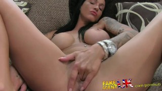 FakeAgentUK Fit tanned London hottie gets creampie in sex casting