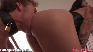 EvilAngel Dana Vespoli Femdom Ass Massacre 3Way  ass fuck big tits ass slave femdom asian blowjob pornstar tattoo small tits skinny toys 3some threesome natural tits evilangel blow job rimming armpit licking
