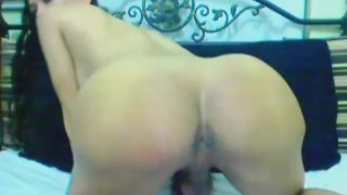Busty Shemale Licks her Own Cum