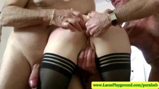 Cocks british geriatric mature loves larasplayground threesome