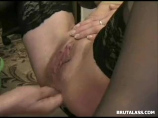 Katrine Amateur Once tight asshole destroyed by hard fisting and dildo