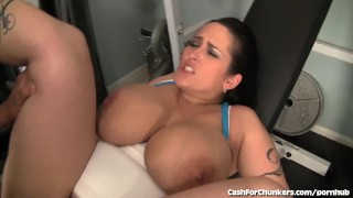 Hot Chunker Fucked HARD in the Gym!  big ass wet pussy big tits bbw blowjob cumshot chubby fat gym big dick busty hardcore sex cashforchunkers facial huge natural tits porn star huge tits thick white girl