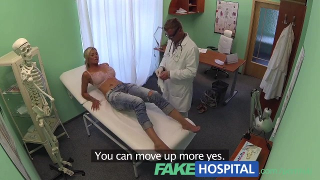Real doctor patient sex Fakehospital doctor probes patients pussy with his cock