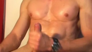 Handsome Sport trainer get wanked his cock by me!  get wanked sperm wanking cumshot wank cock massage straight guy gay hunk huge cock keumgay jerking off serviced