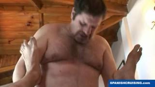 Hung daddy bear fucking  rough fuck doggy style hairy bear amateur blowjob daddy hardcore uncut rimming hung spanish mature macho spanishcruising.com monster cock