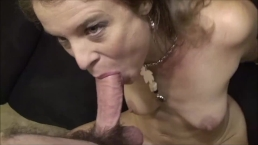 Petite blonde prostitute fucked hard till anal creampie